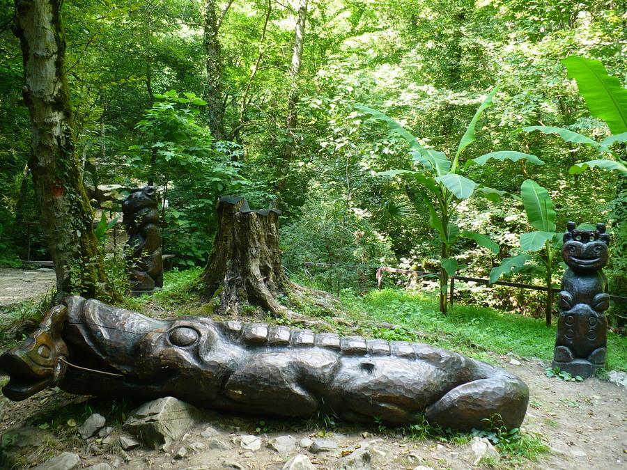 деревянный крокодил