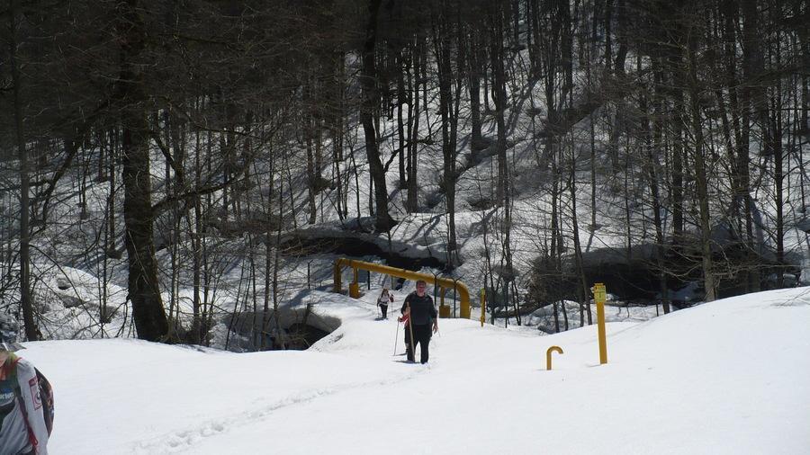 в снежном походе