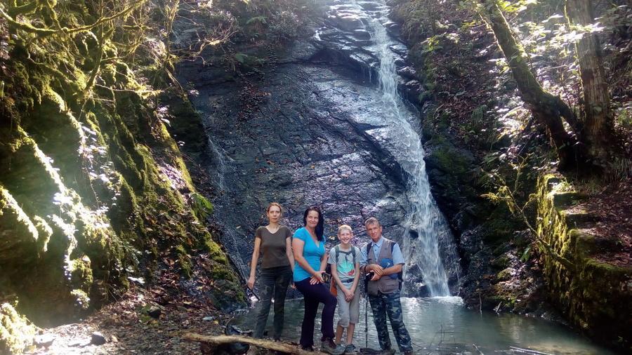 водопад на Белом ручье Пластунка