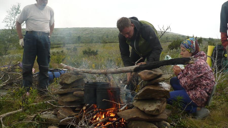 обед в походе в тундре