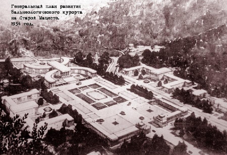 план Бальнеологический курорт Старая Мацеста