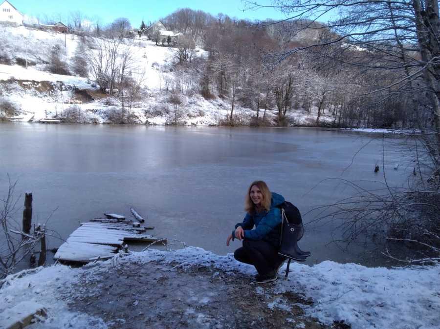 озеро в Прогрессе