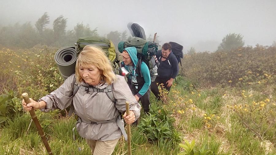 в походе на Перевал Грачевского фото