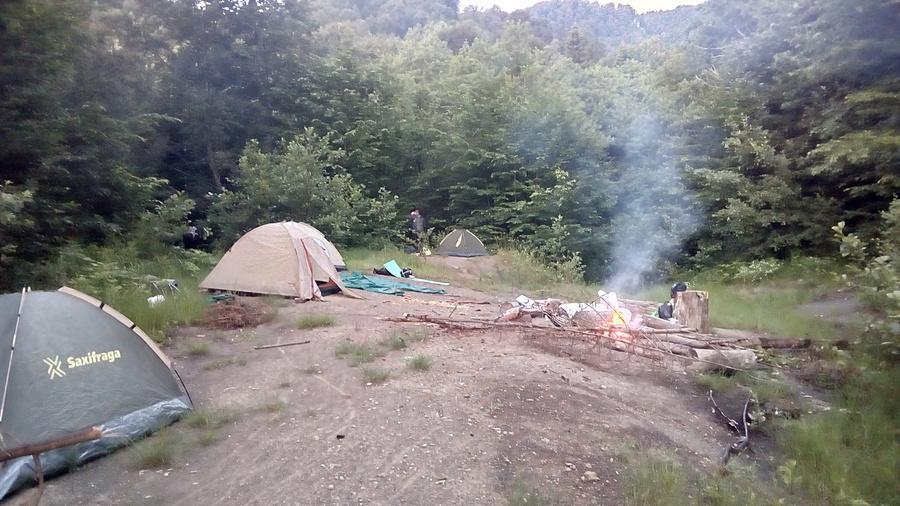 поляна для лагеря у Семиглавой