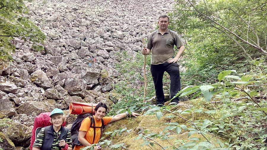 каменная осыпь у горы Индюшка