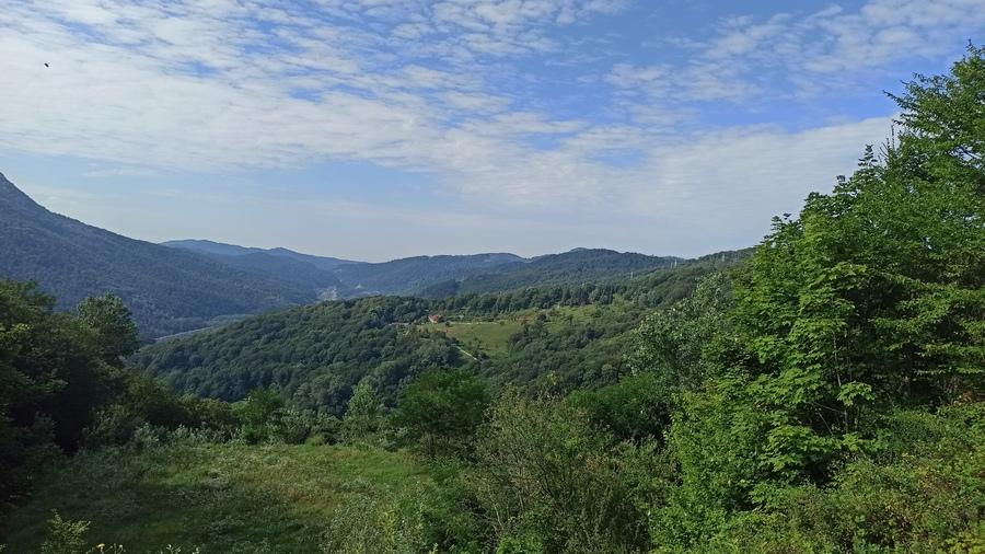Вид от посёлка Монастырь