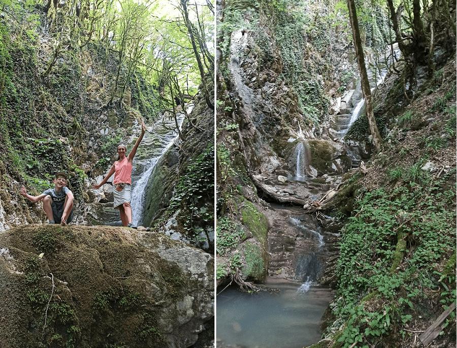 водопад на реке Хобза