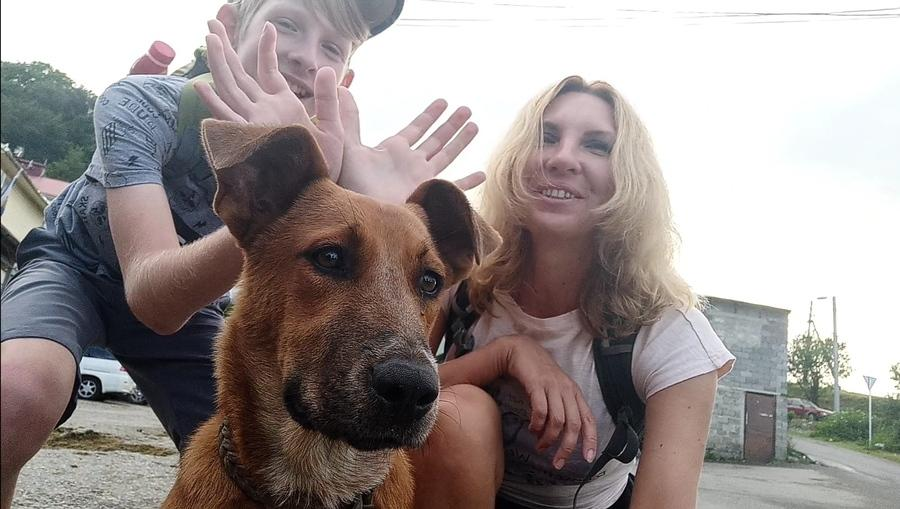 Собака и мы :)