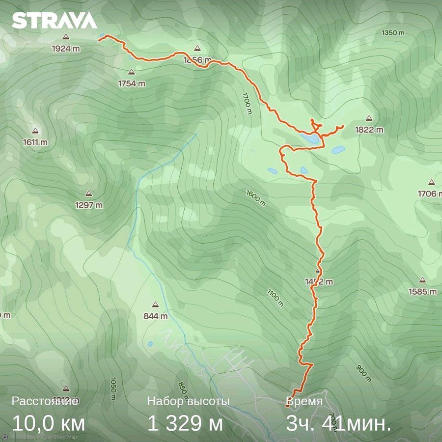 подъём на Хмелёвские озера карта, тропа