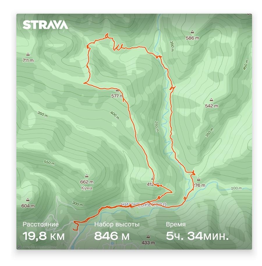 маршрут похода № 31