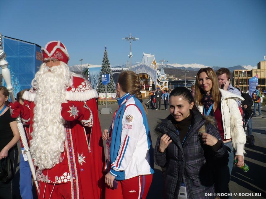 Дед Мороз в Олимпийском парке