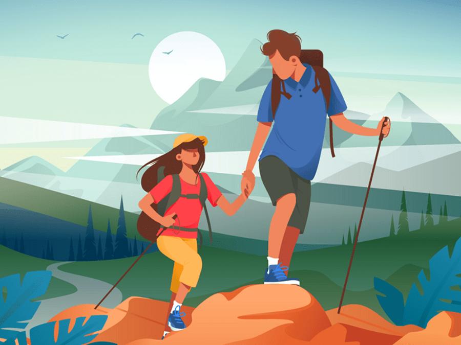 в походе по горам