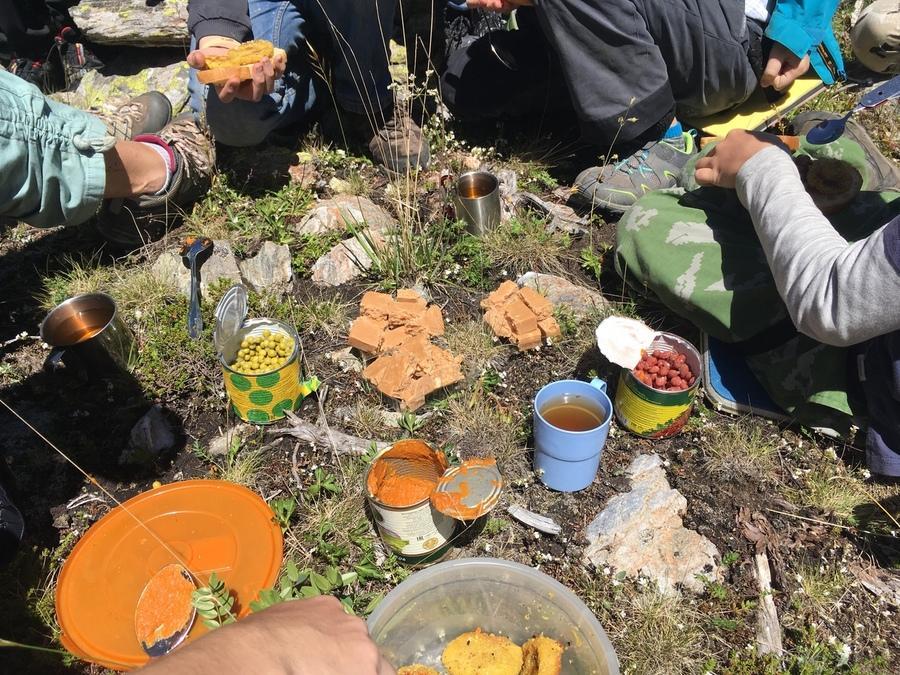 вегетарианский обед в походе